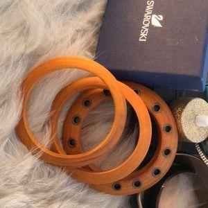 Wood bangles set of 3